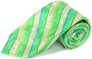 Michelsons of London Men's Green Plaid Tie