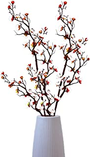 2pcs Artificial Flowers Plum Blossom Simulation Flower Table Decoration Accessories Wedding Party Theme Home Decorations (...