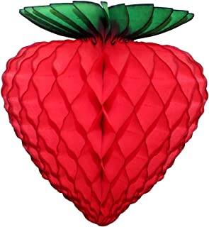 6-pack 8 Inch Honeycomb Tissue Paper Strawberry Decoration