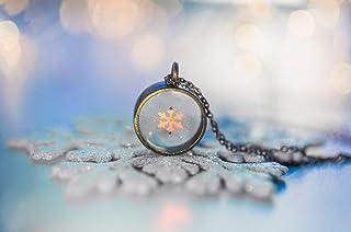 gioielli invernali, collana fiocco di neve, gioielli neve, ciondolo fiocco di neve, regalo di natale, gioielli in resina, ...