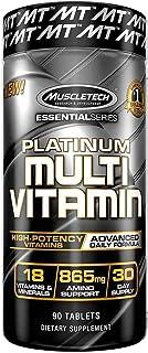 كبسولات بلاتيني متعددة الفيتامينات غير منكهة، 90 كبسولة من ماسل تك