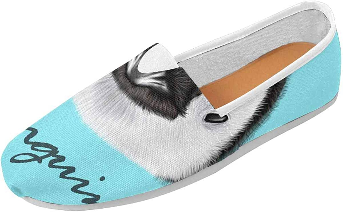InterestPrint Cute Penguin Womens Comfortable Casual Slip On Loafers