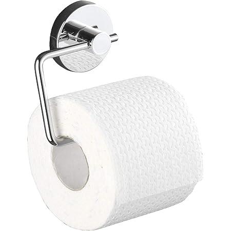 WENKO Support papier toilette mural, porte papier toilette sans percage, Vacuum-Loc®, Milazzo