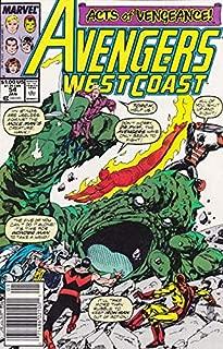 Avengers West Coast #54 (Newsstand) FN ; Marvel comic book