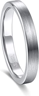 Tungsten Ring for Men Women 3mm 4mm 6mm 8mm Beveled Edge Matte Silver Wedding Band Comfort Fit Size 4-15