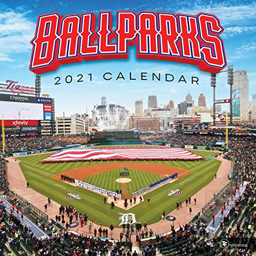 TF PUBLISHING 2021 Ballparks - Baseball Stadiums Monthly Wall Calendar - Appointment Tracker Contacts & Notes - Home/Office Planning - Gloss 12