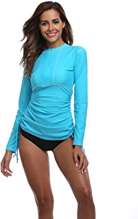 Women's UV Sun Protection Long Sleeve Rash Guard Wetsuit Swimsuit Top