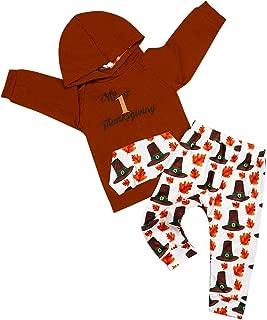 Jimly Thanksgiving Baby Boy Outfits Long Sleeve Hoodie Sweatshirt Top+Pocket Print Pants Clothing Set