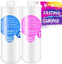 Epoxy-Resin-Kit for Jewelry, Art, Craft 32oz, 2 Part Crystal Clear Casting Resin