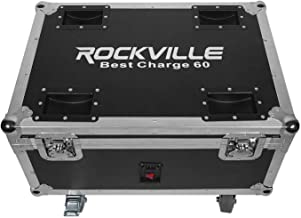 Rockville BEST CHARGE 60 Charging Travel Road Case For (6) BEST PAR 60 Lights