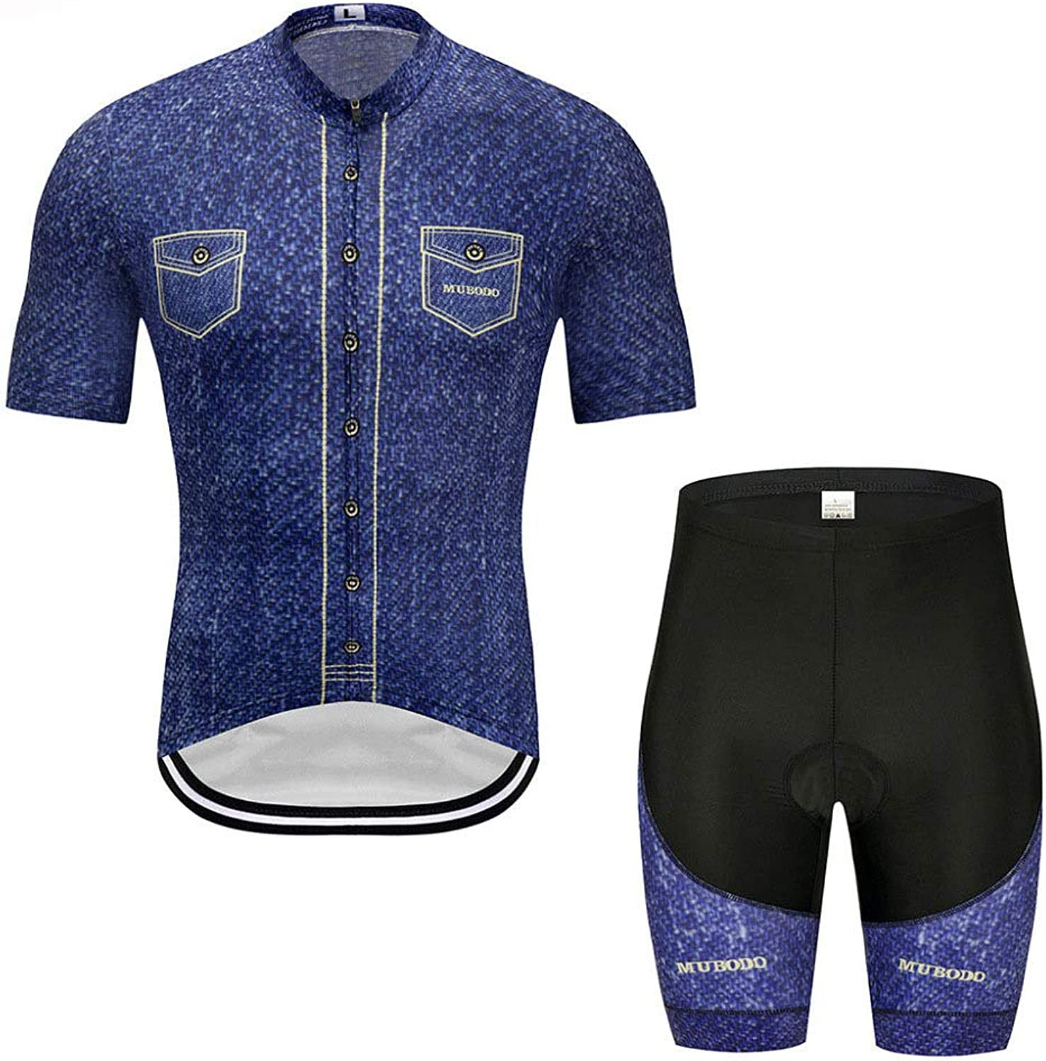 Men and Women Cycling Suits Cycling Jersey Suit Summer Jacket + Shorts Thickening,AsShownXXXXL
