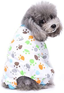 MaruPet Puppy Cartoon Thermal Jumpsuit Printed Splice Snap Turtlenack Pajamas with Hat Hoodies for Small, Extra Small Dog Wiener Dog Pjs Teddy, Pug, Chihuahua, Shih Tzu, Yorkshire Terriers