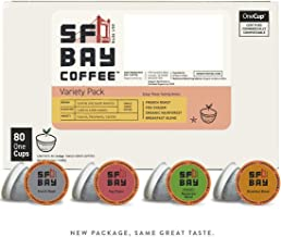 SF Bay Coffee Variety Pack 80 Ct  Compostable Coffee Pods, K Cup Compatible including Keurig 2.0 (Packaging May Vary)
