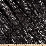 Ben Textiles Inc. 0679562 Snake Brocade Silver Fabric