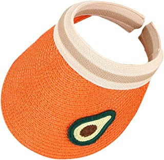 Redcolourful Kids Sun Hat Empty Straw Cap Fruit Sunshade Fashion Sun Cap For Children Orange for Birthday/Party/Christmas/...