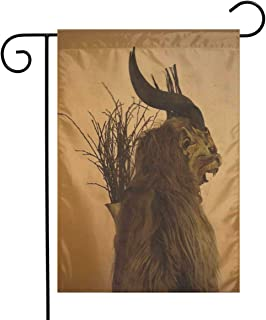 MINIOZE Folklore Christmas Changing Mask of Krampus Themed Welcome Mailbox Small Jumbo for Outdoor Decorations Ornament Picks Garden House Home Yard Traditional Decorative Front 12