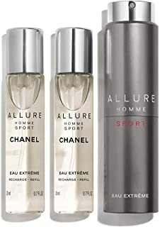 NIB ALLURE HOMME SPORT EAU EXTREME REFILLABLE TRAVEL SPRAY + Free sample gift ONLY from Xpressurself