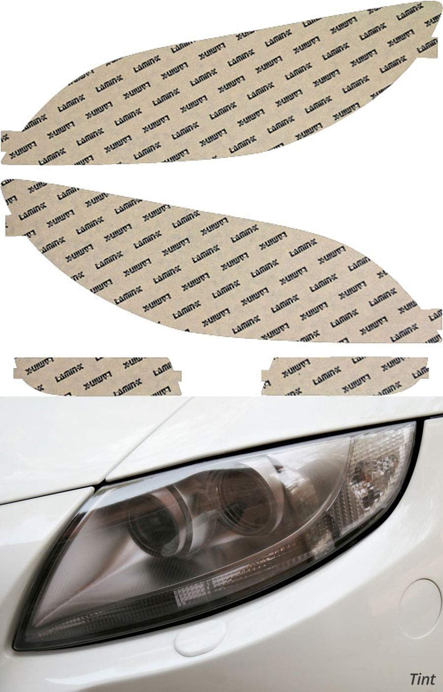 Lamin-x Quantity limited Manufacturer regenerated product Custom Fit Tint Headlight Covers for 3 07-0 Mazda Sedan