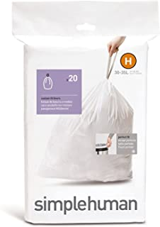 simplehuman Garbage Bag H (20 Pieces for The Butterfly can 20-30L)
