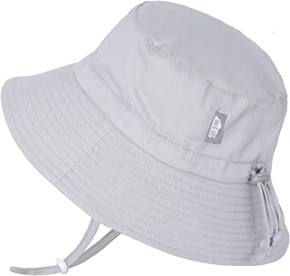 JAN & JUL Baby Sun-Hat, Breathable Cotton with Wide Brim, Adjustable for Growth, Unisex Kids