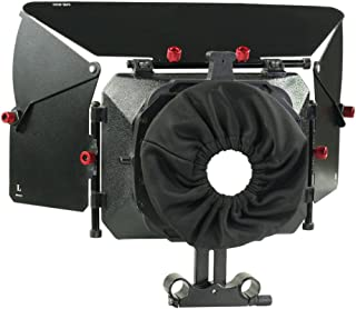 PROAIM MB-600 Full-Featured Sunshade Mattebox with Height Riser for Camera Lenses up to 95mm for 15mm Rail Rod Support Rig, for DSLR Video Canon Nikon Sony BMCC Panasonic Camcorder (P-MB-600)