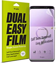 Ringke Dual Easy Film (2 Pack) Compatible with Galaxy S9 High Resolution Anti-Smudge Coating Easy Application Case Friendly Screen Protector for Galaxy S 9