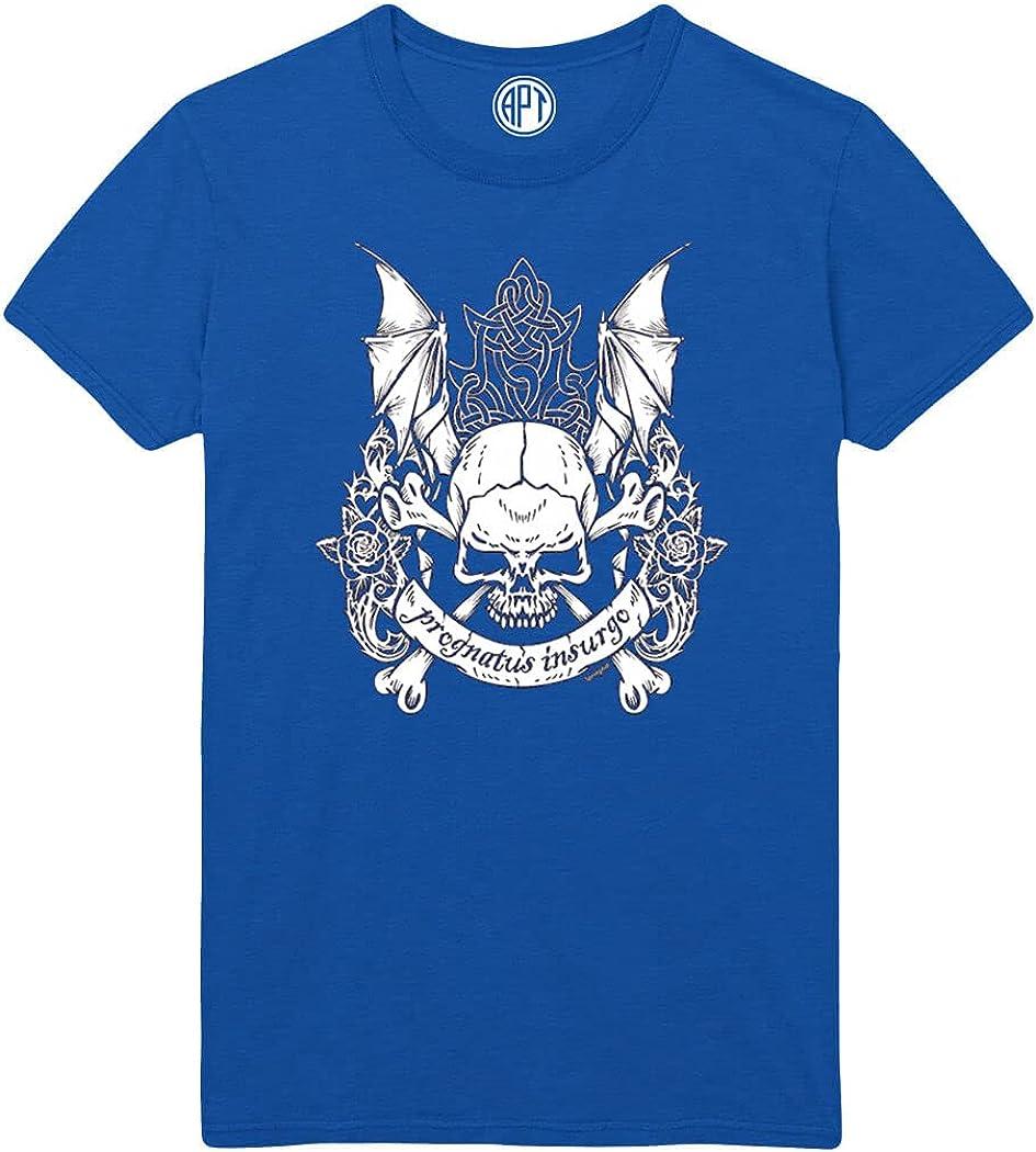 Prognatus Insurgo Skull and Wings Printed T-Shirt