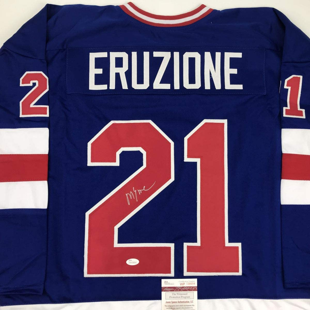 Boston Mall Autographed Signed Mike Eruzione Blue Team Miracle USA Ice Special price for a limited time On 19