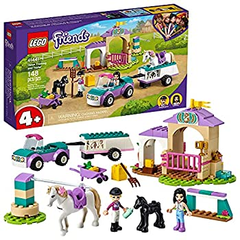 LEGO Friends Horse Training and Trailer 41441 Building Kit Friends Stephanie and Emma and 2 Animals  New 2021  148 Pieces