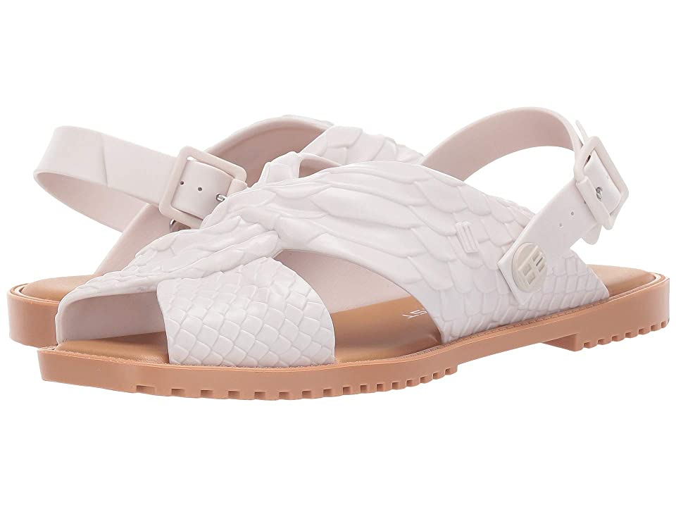 + Melissa Luxury Shoes Baja East + Sauce Flat Sandal (White/Beige) Women