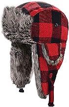 HOMFUL Unisex Trapper Trooper Hat Hunting Hat for Men and Women Ushanka Ear Flap Chin Strap - Updated New Model¡