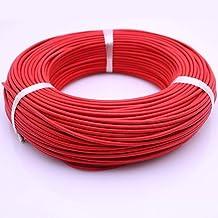 LHongBin-koperen kabel hittebestendig 300 ° C glasvezel gevlochten hoge temperatuur siliconen draad en -kabel, 0,3 mm-4 mm...
