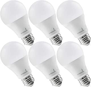 Hyperikon LED Light Bulb, 100 Watt (14W), A19 LED Bulb, 4000K Daylight, Non Dimmable, E26, UL, 6 Pack