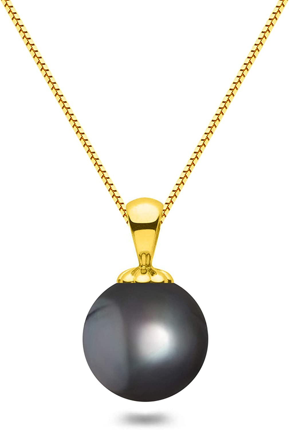Black Japanese AAAA 6-13.5mm Max 84% OFF Free shipping / New Freshwater Pendant N Cultured Pearl