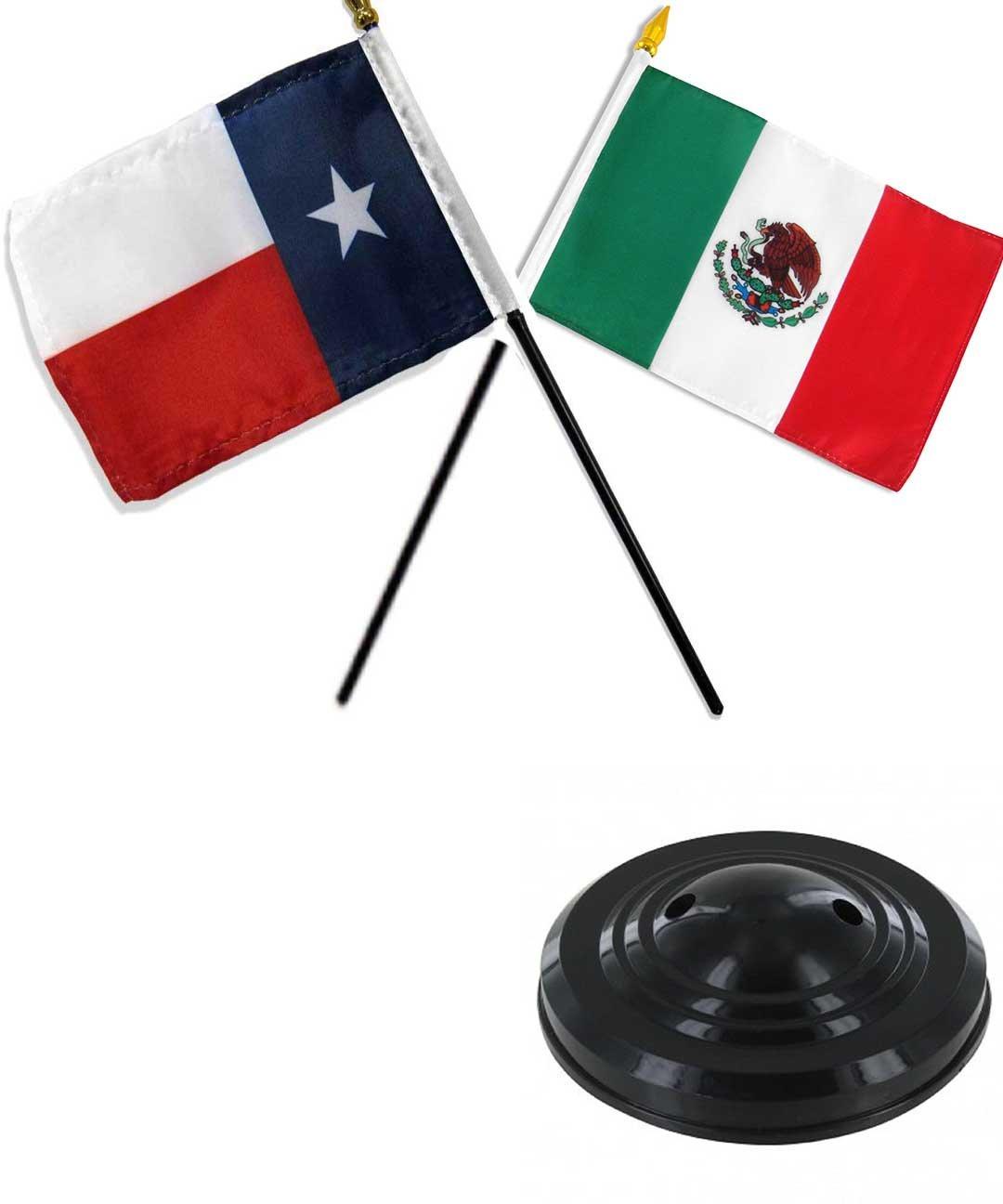 """Mexico Desk Flag /""""4x6/"""" Mexico Flag Mexico Stick Flag"""