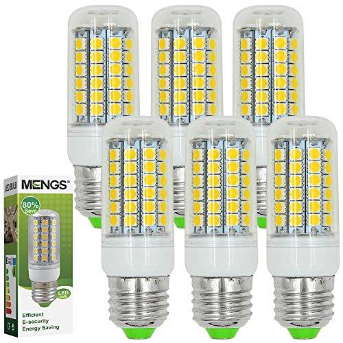 MENGS® 6 Stück E27 LED Lampe 9W AC 220-240V Warmweiß 3000K 69x5050 SMD