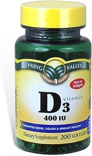 Spring Valley - Vitamin D-3 400 IU, 200 Softgels