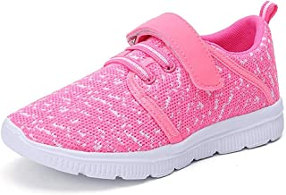 Abertina Kids Lightweight Breathable Running Sneakers Easy Walk Sport Casual Shoes for Boys Girls