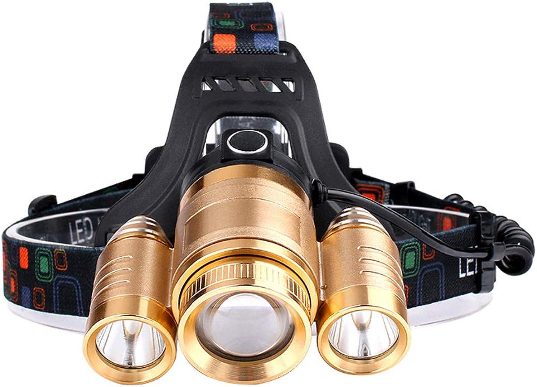 LED Headlamp, Glare Rechargeable Head-Mounted Long-Range Night Fishing Hunting Head Torch