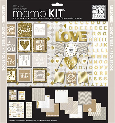 me & my BIG ideas All About Neutrals Page Kits, 12-Inch by 12-Inch