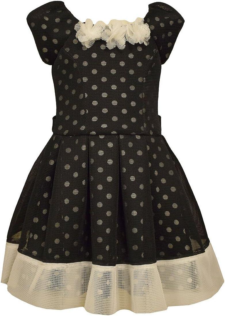Bonnie Jean Little Girls Black Princees Air Mesh Dress 5