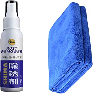 Fan-Ling 120ml New Rust Inhibitor,Rust Remover Spray Rust Quick Cleaming Spray,Anti-Rust Lubricant,for Automotive Chrome Parts, Stainless Steel Products, Sanitary Ware (B)