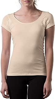 Sweatproof Undershirt for Women w/Underarm Sweat Pads (Original Fit,Scoop Neck)