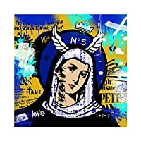 """Mordern Graffiti Woman Canvas Picture Poster And Prints Artwork Wall Art Living Room Bedroom Home Decor 31.4"""" x31.4""""(80x80cm)フレームレス"""