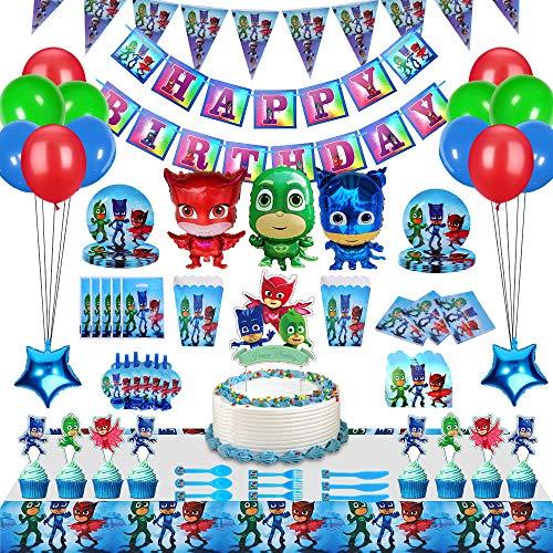 230 Piezas PJ Masks Fiesta Decoración Para 20 Invitados, Regalos De Fiesta...