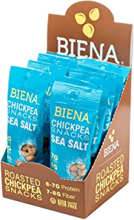 Biena Vegan Non-GMO Baked Chickpea Snacks, Sea Salt, 10 Count