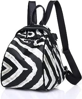 Stylish Zebra Print Backpack Purse Convertible Waterproof Oxford Shoulder Bag Generous Handbag for Women Girls
