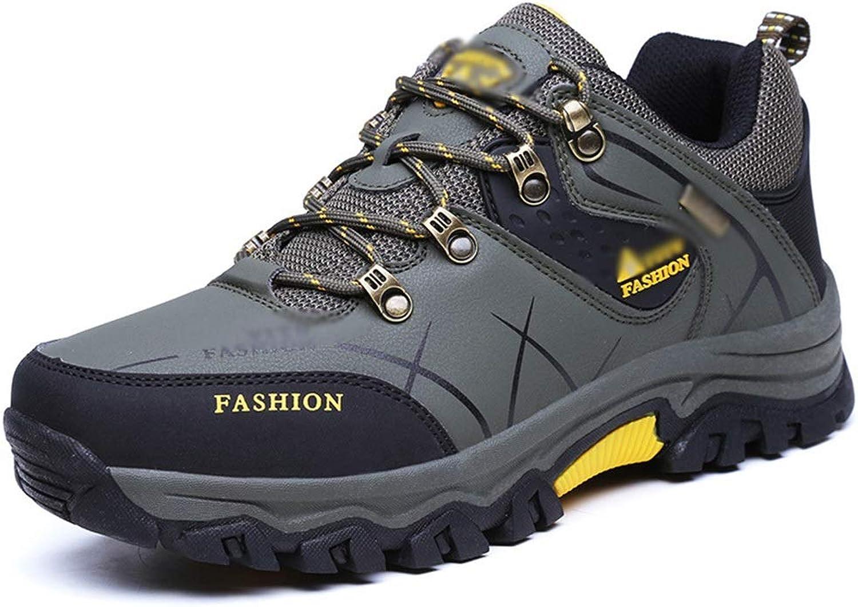 Williess Non-Slip Waterproof Wear-Resistant Hiking shoes Men Outdoor Hiking shoes Men's shoes (color   Green Black, Size   46)