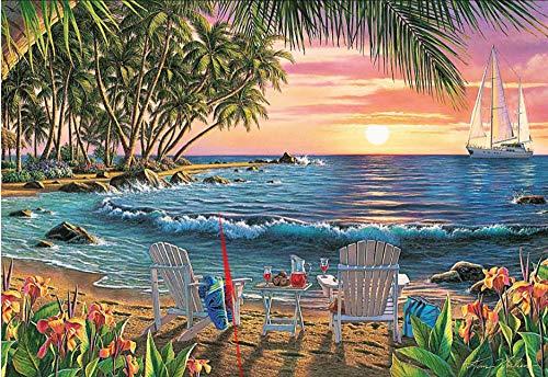 Legpuzzels Voor Kinderen 1500 Stukjes, Coconut Grove Beach Seascape, 1500/1000/500/300 Stukjes, Brain Challenge Jigsaw Puzzle Games