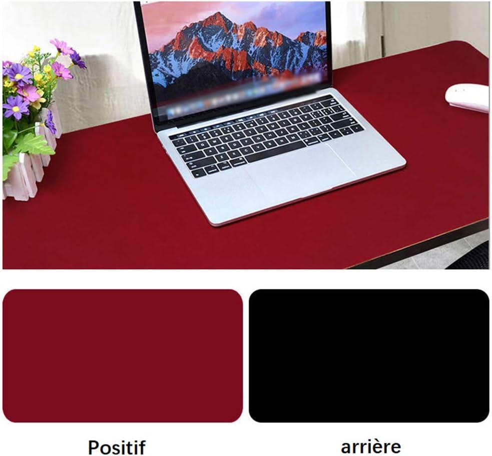 60cm Giallo Spessore 2mm 30 CIEEIN CIEHT Doppio Utilizzo Laterale Tappetino per Mouse Tappetino per Ufficio Pad per Laptop Pelle Impermeabile Blu Scuro